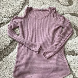 Tops - Cute Off The Shoulder Top Sweater Knit